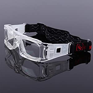Benice Sports Goggles Safety Protective Basketball Glasses for Adults with Adjustable Strap for Basketball Football Volleyball Hockey Rugby