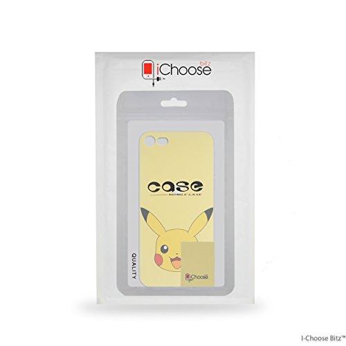 iPhone 7 Plus Pokemon Caja de Silicona / Pikachu Cubierta de Gel para Apple iPhone 7 Plus / Protector de Pantalla y Paño / iCHOOSE Pikachu