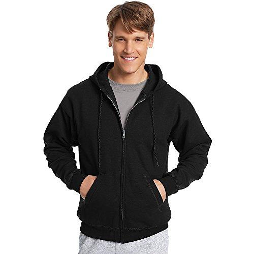 Hanes ComfortBlend EcoSmart Full Zip Hoodie_Black_XL