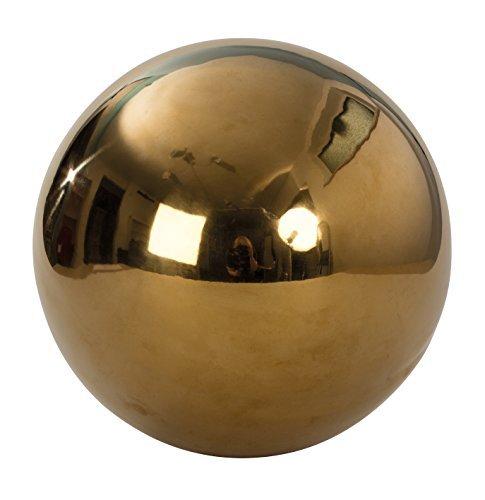 Mel O Design Decorative Ball Garden ornament Garden sphere gold stainless steel Diameter 25 cm