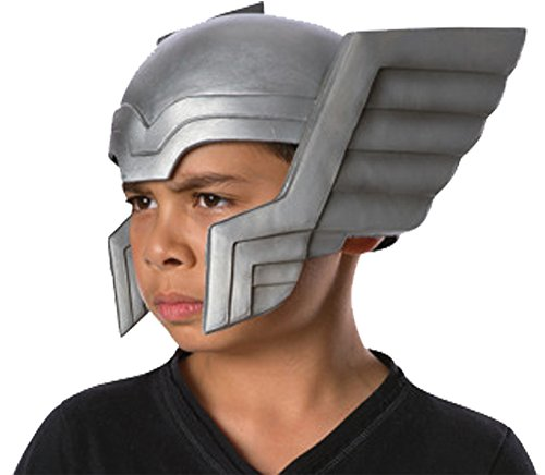 [UHC Boy's Thor Helmet w/ Silver Wings Marvel Avengers Child Costume Accessory] (Lady Thor Costumes)