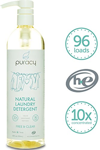 Puracy Natural Liquid Laundry Detergent, Sulfate-Free, THE BEST High Efficiency Soap, Free and Clear, 10x Concentrated