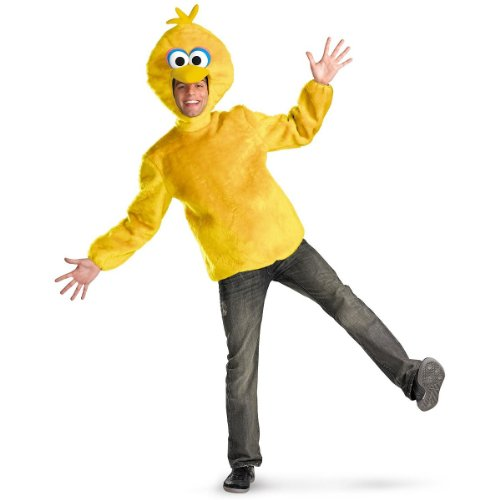 Mens Bird Costumes (Disguise Unisex Adult Male Big Bird, Yellow, X-Large (42-46) Costume)