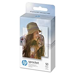 HP ZINK(R) Sticky-Backed Photo Paper, 50 sheets, 2x3-inch for use with the HP Sprocket Photo Printer. Instant. Sharable. Fun. Turn your favorite photos into sharable fun with HP ZINK(R) Photo Paper. Easily load them into your HP Sprocket Phot...