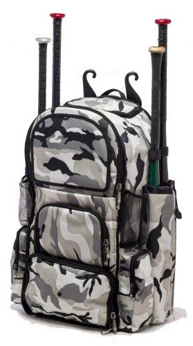 Gray Camouflage Chita II (L) Adult Softball Baseball Bat Equipment Backpack by MAXOPS