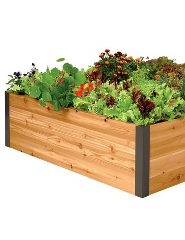 4 Foot X 4 Foot X15 Inch Cedar Raised Bed by Gardener's Supply Company