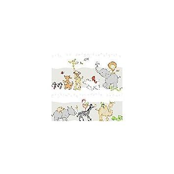 amazon.de: kinderzimmer gardine 5tlg. set mit tier motiv in weiss - Gardine Kinderzimmer Weis