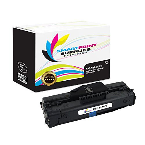 3200 Micr Toner (Smart Print Supplies C4092A 92A MICR Black Premium Compatible Toner Cartridge Replacement for HP LaserJet 1100 3200 Printers (2,500 Pages))