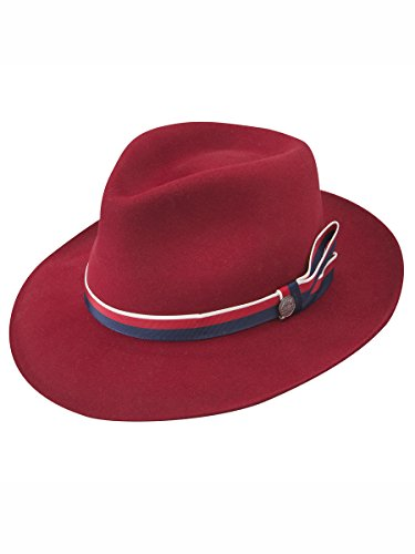 Stetson Women's Aviatrix Fedora Hat Red Medium by Stetson