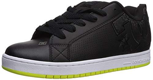 DC Men's Court Graffik Skate Shoe, Black/Lime, 10 D D US ()