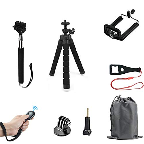 (HAPY Phone Tripod,Lightweight Mini Tripod and Universal Smartphone Tripod Adapter,Wireless Remote Shutter,Selfie Stick Tripod,for iPhone,Samsung,Android Phone,Any Smartphone,GOPRO Camera)