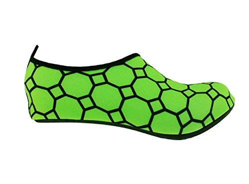 Bamboomn Ultra Léger Dynamique Flexible Eau Active Sport Aqua Plage Chaussures Modèle Vibrant Vert