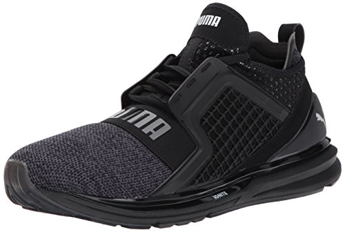 PUMA Men's Ignite Limitless Knit Sneaker,Puma Black/Puma Sil