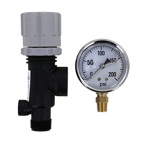 TeeJet 23120-3/4-PP Pressure Regulator with 200 PSI Pressure Gauge (Bundle, 2 Items)