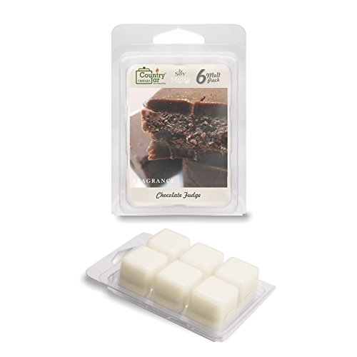 (Country Jar CHOCOLATE FUDGE Wax Melts (2.75 oz./6-Cube Pack) HOT IN JULY SALE IS BACK! ADD ANY 3 SCENTS RECEIVE ONE OF 3 FREE!)