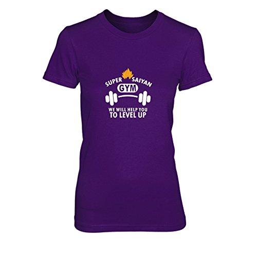 Level up Gym - Damen T-Shirt, Größe: S, Farbe: lila