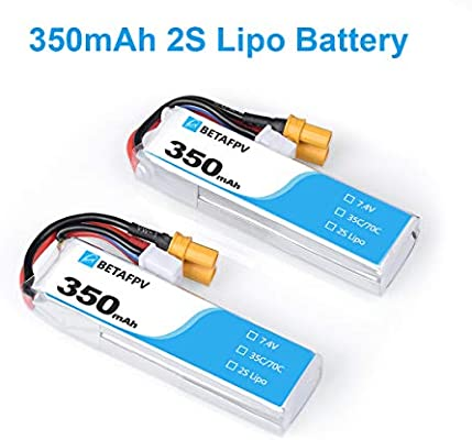 BETAFPV 2pcs 350mAh 2S Lipo Battery HV Battery 35C/70C 7.4V with ...