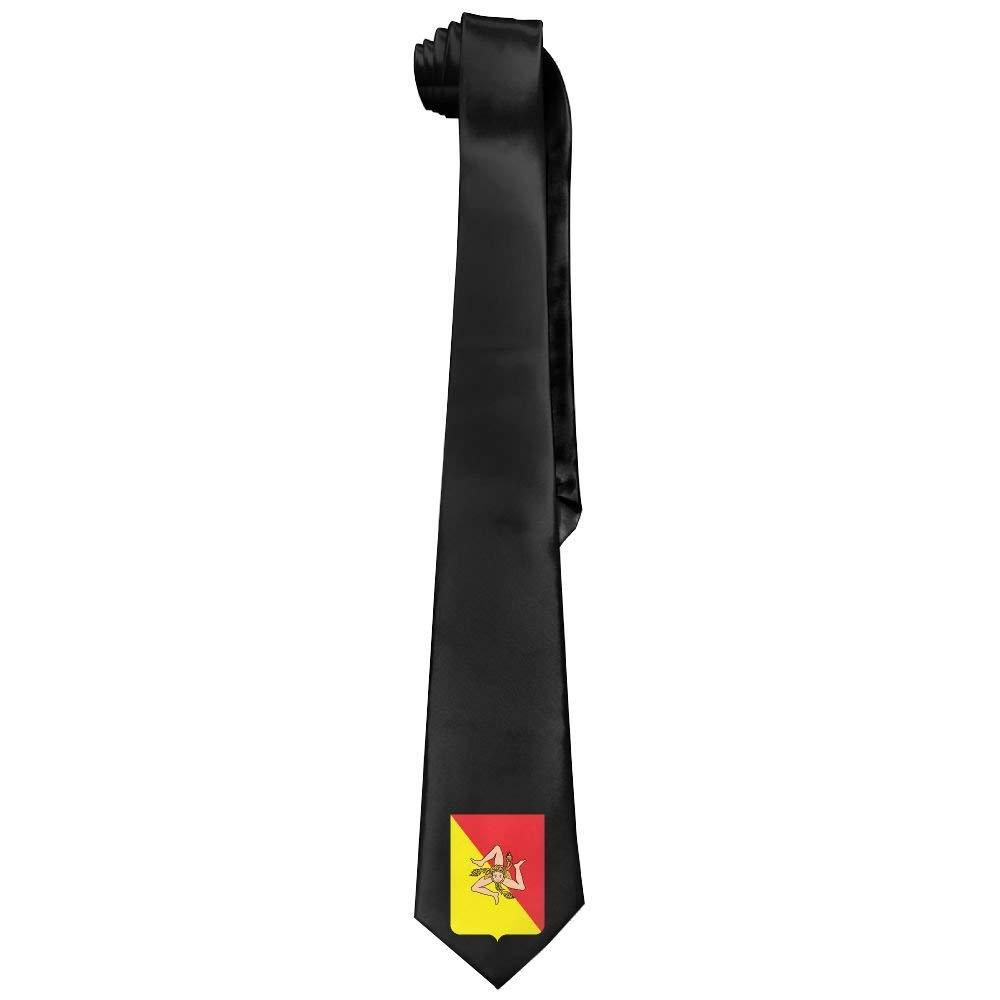 Jxrodekz Moda siciliana bandera hombres corbata larga corbata ...