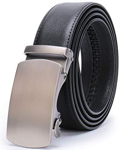 Fashion Men Belts Leather Ratchet Slide Belt with Automatic