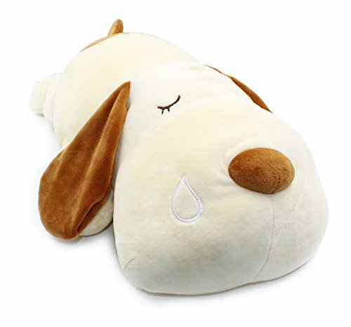 Vintoys Very Soft Dog Big Hugging Pillow Plush Puppy Stuffed Animals Brown 23.5