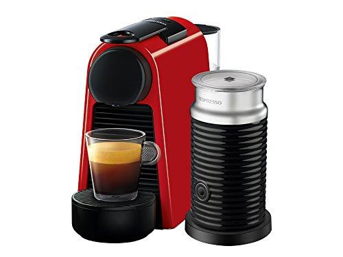 Cafetera Nespresso Essenza Mini con Aeroccino, Ruby Red