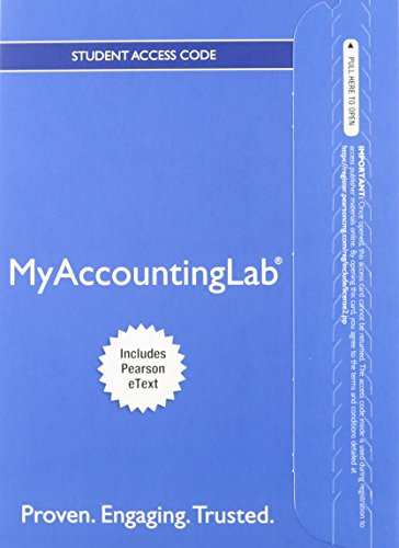Horngren's Financial & Managerial Accounting, The Financial Chapters, Student Value Edition and NEW MyAccountingLab with Pearson eText — Access Card Package (4th Edition)