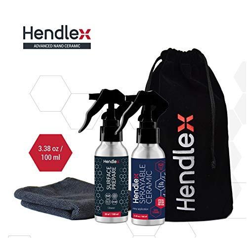 Hendlex Sprayable Ceramic High Gloss Spray Sealant and Quick Detailer for Car Paint Protection 100ml