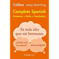 Collins Easy Learning Complete Spanish Grammar, Verbs And Vocabulary (3 Books In 1) [2nd Edition]: Trusted support for…
