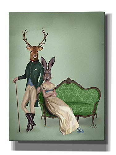 Epic Graffiti Deer and Mrs Rabbit Giclee Canvas Wall Art, 16