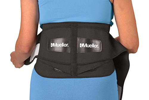 Mueller 64179 Lumbar Support Back Brace with Removable Pad, Regular(28