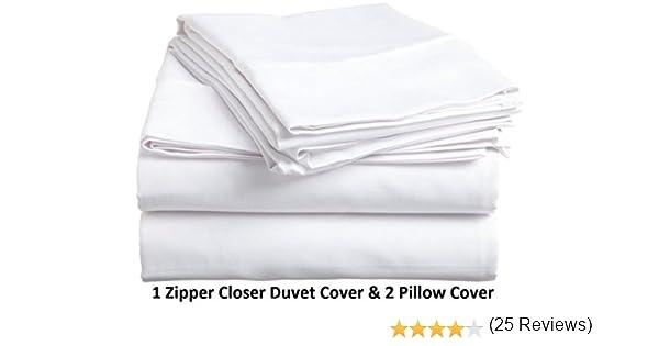 Juego de sábanas ultrasuaves de 100 % algodón de 400 hilos, de la ...