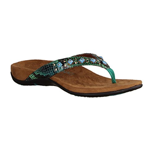 Floriana Vionic - Scarpe da donna eleganti/infradito, Verde, altezza tacco: 15 mm