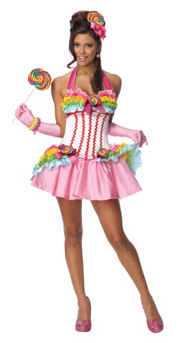 Secret Wishes Womens Lollipop Costume, Multicolor, - Lollipop Sexy