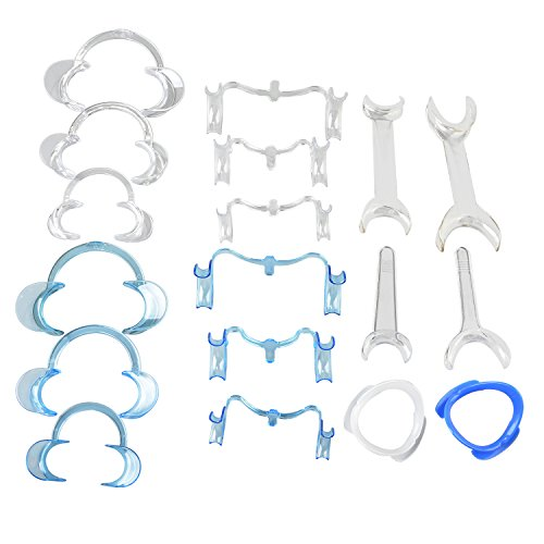 AZDENT Dental Intraoral Cheek and Lip Retractor for Teeth Whitening Full Size Mouth Opener (18pcs/kit)