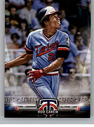 2868534bbda 2018 Topps Update Salute #S-12 Rod Carew Minnesota Twins Official MLB  Baseball Trading