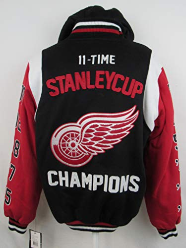 Cup Time 11 Stanley - G-III Sports Detroit Red Wings Mens Size Small Snap Up 11 Time Stanley Cup Champions Jacket ADRW 33 S