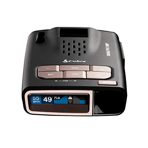 Cobra DualPro 360° Radar Detector w/Long Range, Front & Rear Advanced Sensors, Directional Alert Arrows & Unmatched GPS Accuracy AutoLearn Technology to Eliminate False Alerts, Connects to iRadar app