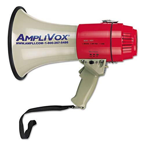 (AmpliVox MityMeg Piezo Dynamic Megaphone, 15W, 5/8 Mile Range - S601)