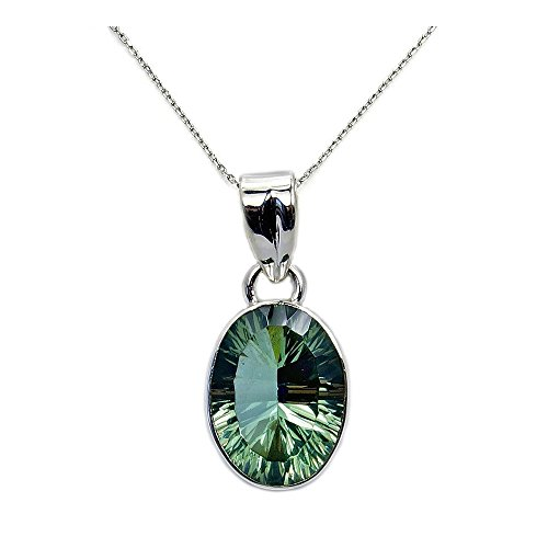 Incredible Sterling Silver Lab Created Color Change Alexandrite Pendant Necklace