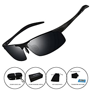 Sunglasses for Men Women Driving Riding Fishing Unbreakable Frame Polarized Glasses