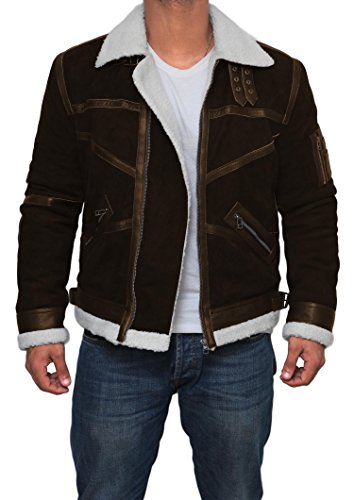 Mens Tom Cruise Jack Reacher Jacket - Leather Motorcycle Jacket (Brown - Power 50 Cent Jacket, XL) by Decrum (Image #1)