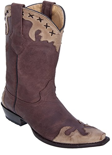 Los Altos Damene Klipp Tå Ekte Skinn Ørkenen Huden Vestlige Støvler Choco Orxy
