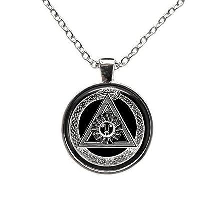 nueva llegada fccb3 90172 Orden Alchemy colgante de símbolo masónico Illuminati collar ...