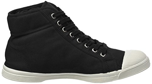 Bensimon Men's Tennis Mid Hi-Top Sneakers Black (Carbone) ccn7sz