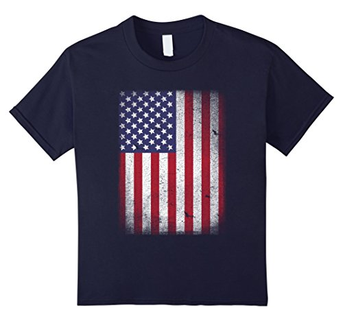 Kids USA Flag T-shirt 4th July 4 Red White Blue Stars Stripes Tee 8 (Star Flag Shirt)