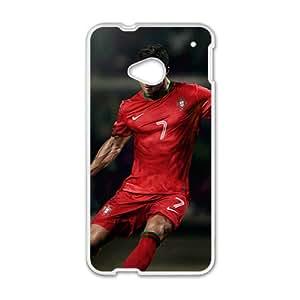 Custom Soccer Player Real Madrid CR7Ronaldo Case Cover for HTC One M7
