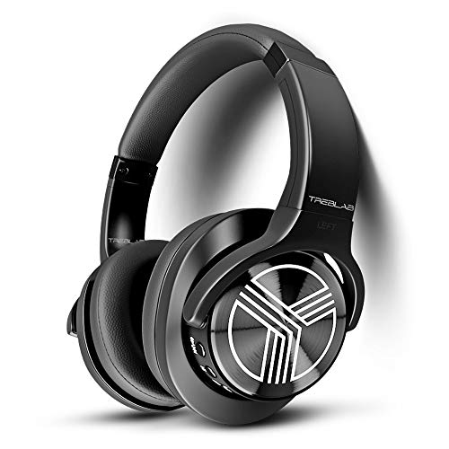 TREBLAB Z2 - Ultra Premium Over Ear Wireless Headphones - HyperHD Sound, High-End Bluetooth Stereo aptX, Active Noise Cancelling ANC Microphone, 35H Battery, Best Sports Gym Workout Travel (Best Wireless Headphones For Working Outs)