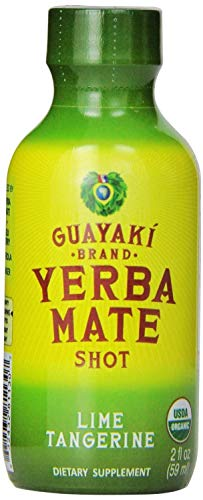 Guayaki Yerba mate organic energy shot Lime Tangerine 2 OZ, 12 per case. (2 cases total of 24)