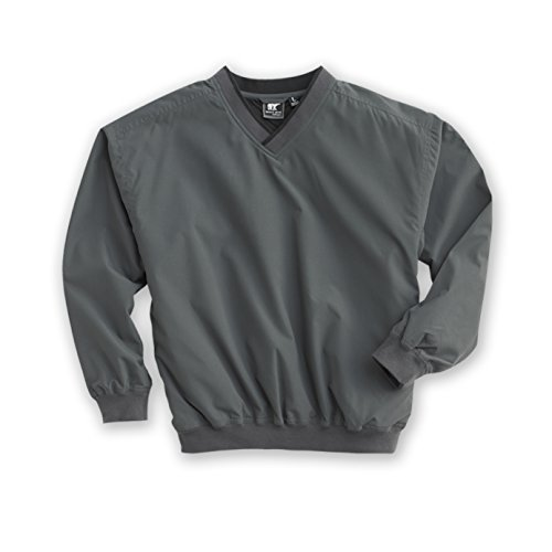 Golf Nylon Pullover - White Bear Clothing Co. Microfiber Windshirt (Style 5150) - 14 Sizes: XS-5XL, LT-4XT (LG, Charcoal/Black)