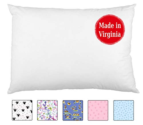 A Little Pillow Company Toddler Pillowcase (13×18) 100% USA-Grown Cotton Percale – Flap Style – Handmade in USA Since…